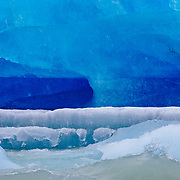 Abstract Ice near the Viedma Glacier from Lago Viedma in Los Glaciares National Park Patagonia Argentina.