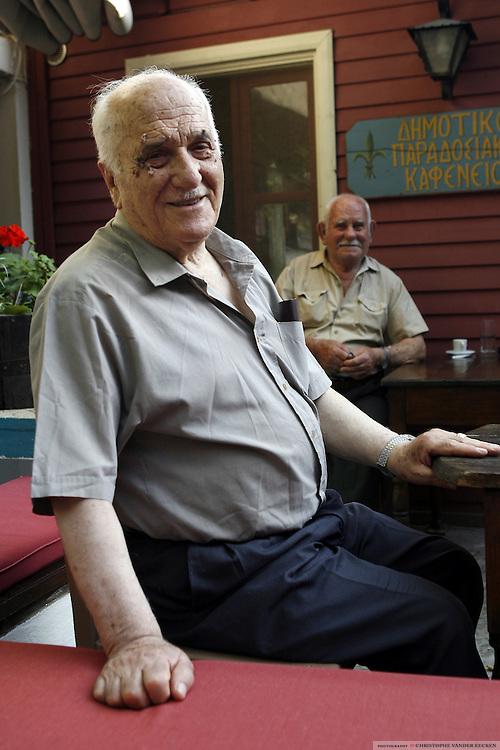 Lesbos, Greece, Jun 26, 2006, Portrait of an inhabitant of molivos. PHOTO©Christophe Vander Eecken