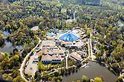 Nederland, Flevoland, Zeewolde, 01-05-2013;<br /> Vakantiepark De Eemhof van Center Parcs met accomodaties als zwembad en restaurants.<br /> Holiday park Center Parcs , restaurant and swimming pool.<br /> luchtfoto (toeslag op standard tarieven)<br /> aerial photo (additional fee required)<br /> copyright foto/photo Siebe Swart