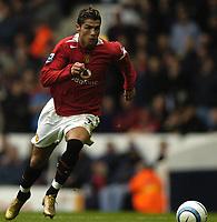 Fotball<br /> Premier League England 2004/2005<br /> Foto: BPI/Digitalsport<br /> NORWAY ONLY<br /> <br /> 25.09.2004<br /> <br /> Tottenham v Manchester United<br /> <br /> Christiano Ronaldo