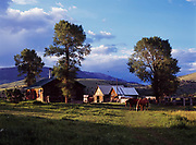 Ranch in the Ruby River Valley, Madison County, Montana.