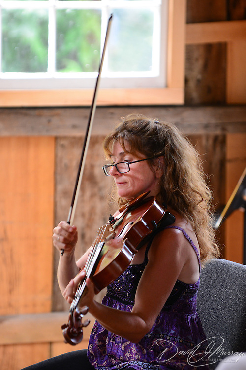 Melinad Daetsch of The Arensky Ensemble performing in the barn at Moffatt-Ladd House in Portsmouth, NH. July 2012