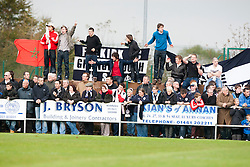 Falkirk fans..Annan Athletic 0 v 3 Falkirk. Semi Final of the Ramsdens Cup, 9/10/2011..Pic © Michael Schofield.