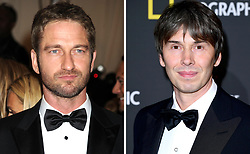 Embargoed to 0001 Monday April 30 Undated file photos of Gerard Butler (left) and Brian Cox, who are among famous faces who are backing a new campaign to boost interest in the National Trust for Scotland (NTS).