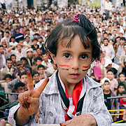 From the series WAR GAMES: protesters against the regime in central Sana'a