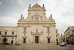 La facciata della Chiasa Matricea a Galatina, dedicata a San Pietro e San Paolo. 25/03/2010 (PH Gabriele Spedicato)