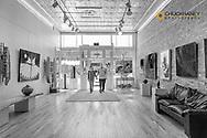 Viewing the artwork at Montana Modern Fine Art  in Kalispell, Montana, USA