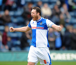 Bristol Rovers' Tom Parkes celebrates the win at the final whistle - Photo mandatory by-line: Dougie Allward/JMP - Mobile: 07966 386802 26/04/2014 - SPORT - FOOTBALL - High Wycombe - Adams Park - Wycombe Wanderers v Bristol Rovers - Sky Bet League Two