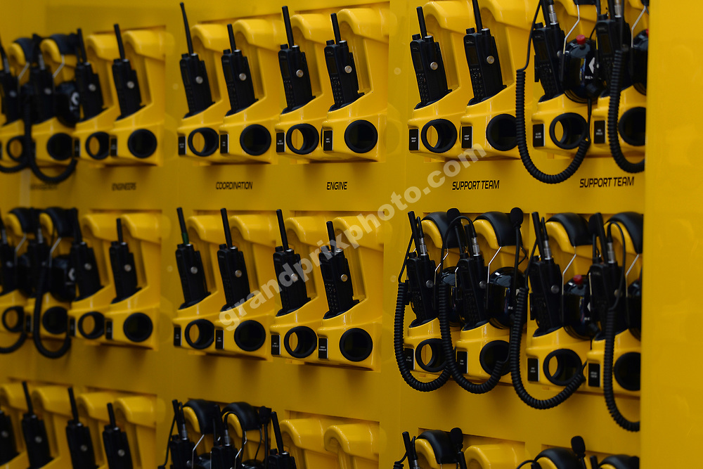 Renault headsets before the 2019 French Grand Prix at Paul Ricard. Photo: Grand Prix Photo