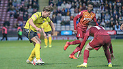 Matt Taylor (Chesham) attacks the Bradford box in the last few seconds of the game during the The FA Cup match between Bradford City and Chesham FC at the Coral Windows Stadium, Bradford, England on 6 December 2015. Photo by Mark P Doherty.