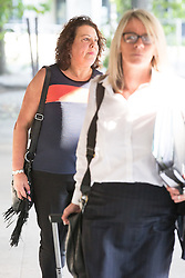 © Licensed to London News Pictures . 11/09/2015 . Manchester , UK . ANITA CREGAN , mother of killer Dale Cregan , arrives at Manchester Crown Court for sentence , following pleading guilty to mortgage fraud . Photo credit: Joel Goodman/LNP