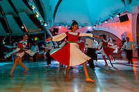 A dance troupe of Israeli boys and girls performing, Jerusalem, Israel.