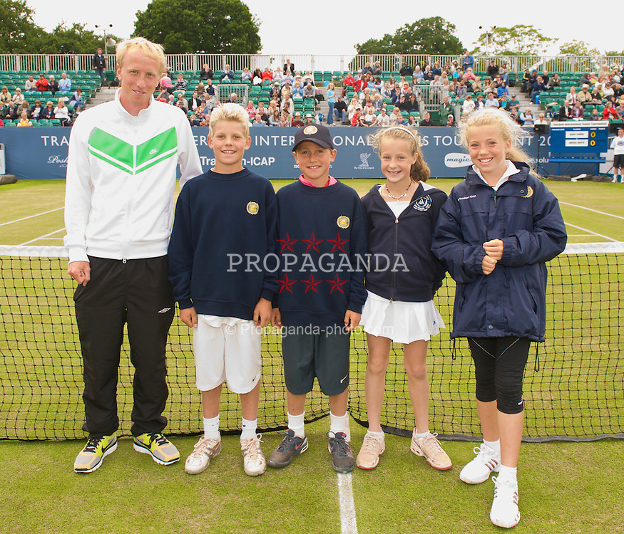 LIVERPOOL, ENGLAND - Saturday, June 20, 2009: The Norwegian team in the Anders Borg Inter-City Cup on Day Four of the Tradition ICAP Liverpool International Tennis Tournament 2009 at Calderstones Park. (Pic by David Rawcliffe/Propaganda)