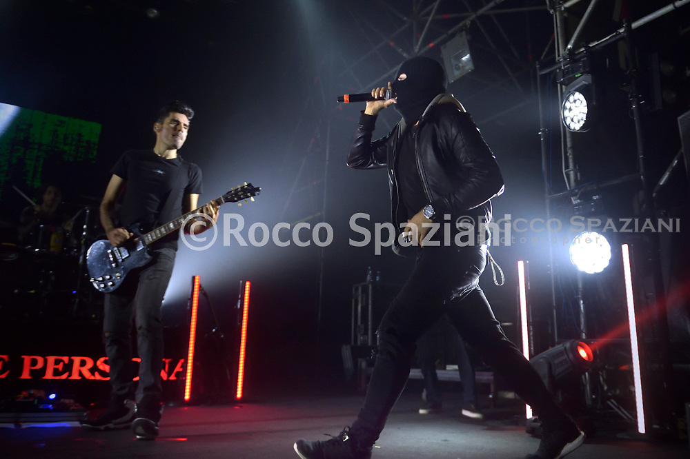 """The Italian singer rapper Mezzosangue on his tour """"Sua cuique persona"""" Final of the """"Hurricane Tournament"""" competition organized by the Roman rapper Mezzosangue in concert at the Atlantic in Rome. Rome (Italy),January 25th ,2020"""