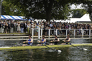 Henley Royal Regatta. Henley-on-Thames, ENGLAND, 30.06.2006. Visitors Challenge Cup,  Molesey Boat Club and Imperial College, London, loaded with olympians win the Afternoon heat.  Left and stroke Richard WEARNE, AUS Olympic Silver Medallist, Jan HEROG, GER,  Olympian, Greg SEARLE Gold Medallist Barcelona 92, Jonny SEARLE, Gold medallist Barcelona 92]. Photo  Peter Spurrier/Intersport Images.email images@intersport-images.com... Henley Royal Regatta, Rowing Courses, Henley Reach, Henley, ENGLAND [Mandatory credit; Peter Spurrier/Intersport Images] 2006 . HRR.