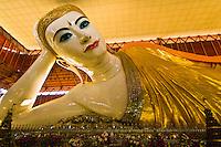 Reclining Buddha, Chaukhtatgyi Temple (Pagoda), Yangon (Rangoon), Myanmar (Burma)
