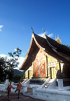 """Vat Xieng Thong in Luang Prabang, Laos, a UNESCO World Heritage Center..with the """"Tree of Life"""" painting on the front"""