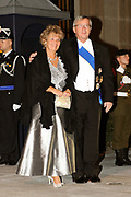 Gala dinner on the occasion of the civil wedding of Grand Duke Guillaume and Princess Stephanie at the Grand-Ducal palace in Luxembourg <br /> <br /> On the photo: Prime Minister of Luxembourg Jean-Claude Juncker and wife