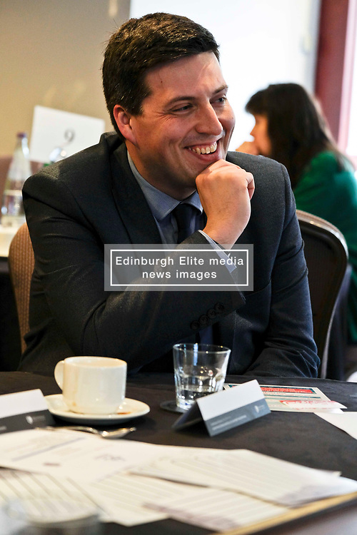 Pictured: Jamie Hepburn<br /> <br /> Employability Minister Jamie Hepburn was in Edinburgh today and met members of employability project before heading to the Scottish Parliament where he will make a speech announcing a plan for integration 'No one left behind.<br /> <br /> Ger Harley   EEm 27 March 2018