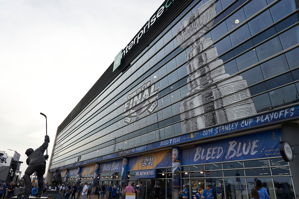 St. Louis Blues Game 4 watch party on Market Street on June 3, 2019.