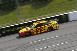 June 1, 2018 - Long Pond, Pennsylvania, United States of America - Joey Logano (22) brings his car down the frontstretch during qualifying for the Pocono 400 at Pocono Raceway in Long Pond, Pennsylvania. (Credit Image: © Chris Owens Asp Inc/ASP via ZUMA Wire)