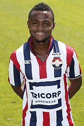 Asumah Abubakar during the team presentation of Willem II on July 17, 2017 at sportcomplex SC 't Zand in Tilburg, The Netherlands
