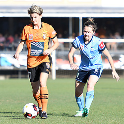 BRISBANE, AUSTRALIA - OCTOBER 30: Maili Forbes of the Roar dribbles the ball during the round 1 Westfield W-League match between the Brisbane Roar and Sydney FC at Spencer Park on November 5, 2016 in Brisbane, Australia. (Photo by Patrick Kearney/Brisbane Roar)