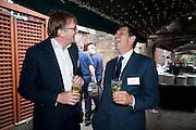 IVOR DICKINSON; DOUGLAS AND GORDON;TIM THURSTON Archant Summer party. Kensington Roof Gardens. London. 7 July 2010. -DO NOT ARCHIVE-© Copyright Photograph by Dafydd Jones. 248 Clapham Rd. London SW9 0PZ. Tel 0207 820 0771. www.dafjones.com.