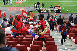 19 May 2018, Johannesburg. Emirates Airlines Park, Ellis Park. A man selling snacks and cold drinks walks through the empty chairs.<br />Gauteng Emirates Lions vs Canberra Brumbies. Picture: Karen Sandison/African News Agency (ANA)