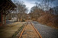 Train tracks Main Street Depot Bethlehem Pennsylvania Lehigh Valley