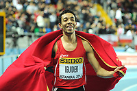 ATHLETICS - WORLD CHAMPIONSHIPS INDOOR 2012 - ISTANBUL (TUR) 09 to 11/03/2012 - PHOTO : STEPHANE KEMPINAIRE / KMSP / DPPI - <br /> 1500 M - MEN - FINALE - GOLD MEDALE - ABDALAATI IGUIDER (MAR)