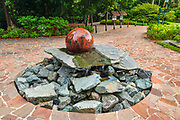 The Swiss Granite Fountain at the Singapore Botanic Gardens, Singapore, Republic of Singapore