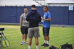 June 20, 2018 - London, United Kingdom - Former World No. 1 Lleyton Hewitt of Australia during a training session on day three of Fever Tree Championships at Queen's Club, London on June 20, 2018. (Credit Image: © Alberto Pezzali/NurPhoto via ZUMA Press)