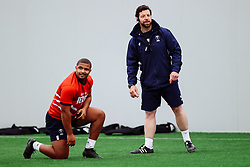 Andrew Turner and Alasdair Dickinson (Scrum Coach) look on as Bristol Bears start to use their new almost completed Training centre - Rogan/JMP - 08/07/2020 - RUGBY UNION - Beggar Bush Lane - Bristol, England.