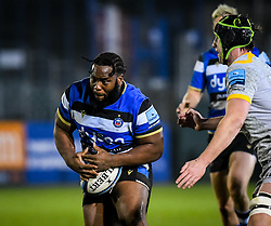Beno Obano of Bath Rugby carries - Mandatory by-line: Andy Watts/JMP - 08/01/2021 - RUGBY - Recreation Ground - Bath, England - Bath Rugby v Wasps - Gallagher Premiership Rugby