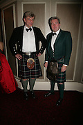 Richard Reid and Giles Herdman, The Royal Caledonian Ball 2007. Grosvenor House. 4 May 2007.  -DO NOT ARCHIVE-© Copyright Photograph by Dafydd Jones. 248 Clapham Rd. London SW9 0PZ. Tel 0207 820 0771. www.dafjones.com.