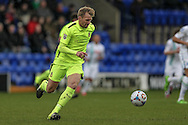 Josh Thompson (Southport) during the Vanarama National League match between Tranmere Rovers and Southport at Prenton Park, Birkenhead, England on 6 February 2016. Photo by Mark P Doherty.