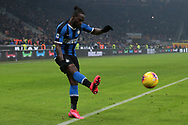 Victor Moses of Inter crosses the ball for Romelu Lukaku to head home and give the side a 4-2 lead during the Serie A match at Giuseppe Meazza, Milan. Picture date: 9th February 2020. Picture credit should read: Jonathan Moscrop/Sportimage