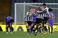 """Esultanza di Pablo ARMERO Udinese dopo il gol<br /> Udine, 11/12/2010 Stadio """"Friuli""""<br /> Udinese-Fiorentina<br /> Campionato Italiano Serie A 2010/2011<br /> Foto Nicolo' Zangirolami Insidefoto"""