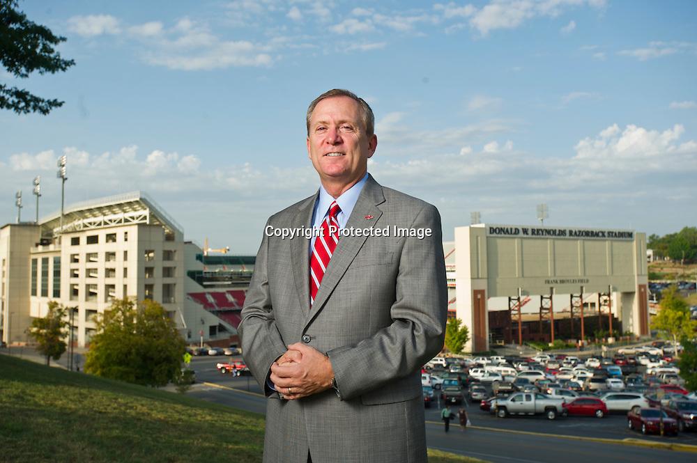 eff Long, University of Arkansas Athletic Director. Editorial portrait of University of Arkansas athletic director Jeff Long.