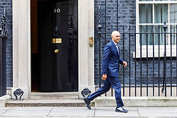 © Licensed to London News Pictures. 21/02/2017. London, UK. Communities and Local Government Secretary SAJID JAVID leaves after a cabinet meeting in Downing Street, London on Tuesday, 21 February  2017. Photo credit: Tolga Akmen/LNP