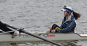 Putney. London,  London School of Economics cox, with her Head cam to record the the crews race. 2015  Head of the River Race. Championship Course Putney to Mortlake.  ENGLAND. <br /> <br /> Sunday   29/03/2015<br /> <br /> [Mandatory Credit; Intersport-images]
