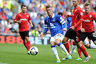 Everton's Ross Barkley © in action. Barclays Premier league, Cardiff city v Everton at the Cardiff city Stadium in Cardiff,  South Wales on Saturday 31st August 2013. pic by Andrew Orchard,  Andrew Orchard sports photography,