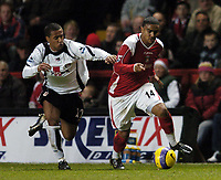Photo: Olly Greenwood.<br />Charlton Athletic v Fulham. The Barclays Premiership. 27/12/2006. Charlton's Jerome Thomas and Fulham's Wayne Routledge