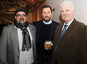 Jonathon Duggan An Pucan, John Molloy, Territory Sales Developer, Irish Distillers Pernod Ricard and Tony Freeney Freeney's High St. at The Jameson The Black Barrel Craft Series  at Old printing works, Market Street with music by Corner boy.  Photo:Andrew Downes