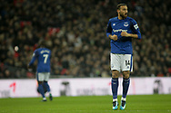 Cenk Tosun of Everton looks on. <br /> Premier league match, Tottenham Hotspur v Everton at Wembley Stadium in London on Saturday 13th January 2018.<br /> pic by Kieran Clarke, Andrew Orchard sports photography.