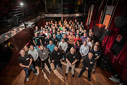 Group picture before the seminar. IKMS 'In The Club' seminar with KMG Global Team Instructor and Expert Level 5, Tommy Blom, at the Buff Club in Glasgow's City Centre. Bringing Krav Maga training out with the confines of the gym into a real nightclub/bar.<br /> © Michael Schofield.
