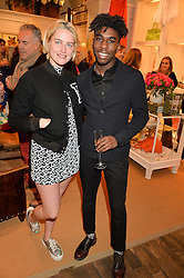 MADDISON BRUDENELL and JAZZ PURPLE at a party to celebrate the publication of India Hicks: Island Style hosted by Princess Marie-Chantal of Greece, Saffron Aldridge and Amanda Brooks has held at Ralph Lauren, 105-109 Fulham Road, London on 28th April 2015,