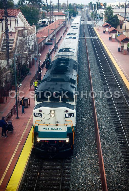 Metrolink Train Stopped At Station Track 2 Picking Up Passengers