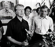 President Jimmy Carter and Vice President Walter Mondale Hold Train Depot Press Conference
